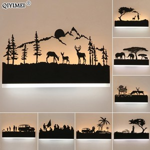Image 2 - Romantic Wall lamps acrylic lampshade lighting fixture upside warm down cool for living room bedside Animal lights AC110 260V