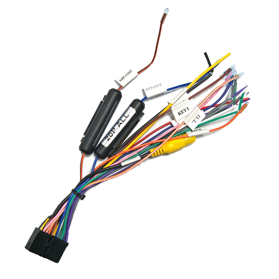 20 PIN Wiring Harness Connector Adapter Car Stereo multimedia player Power  Cable Harness for 1din or 2din DVD Android Power Cables, Adapters &  Sockets  - AliExpressAliExpress