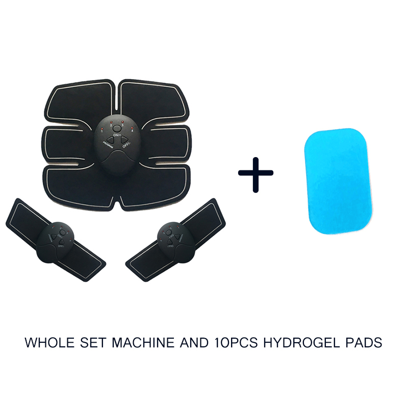 EMS Abdominal Machine Electric Muscle Stimulator Trainer Vibration  Fitness Crossfit Body Slimming Massage And Hydrogel Pad Vibration Fitness Massager     - title=