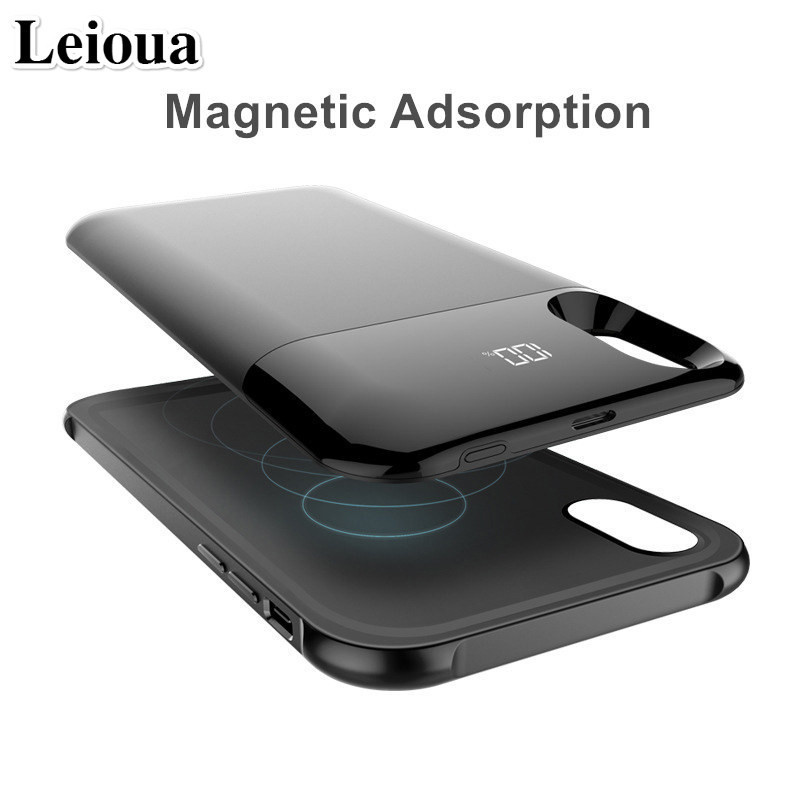 Leioua New Charge Battery Cover 5000mah For Iphone X XS XR XS Max Battery Case Power Separate Wireless Charging Battery CaseLeioua New Charge Battery Cover 5000mah For Iphone X XS XR XS Max Battery Case Power Separate Wireless Charging Battery Case