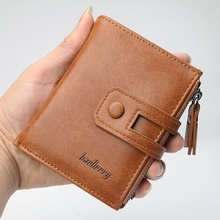 Mens Short Wallet Retro Zipper Multi-Function Large Capacity Multi-Card Coin Purse Male