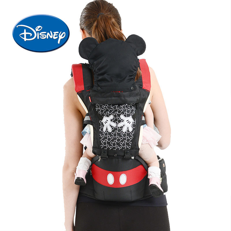 Disney Breathable Multifunctional Front Facing Baby Carrier Infant Baby Sling Backpack Pouch Wrap Accessories With Gift Box