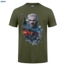 GILDAN  The Witcher 3 Wild Hunt t-shirt Top Pure Cotton Men T Shirt
