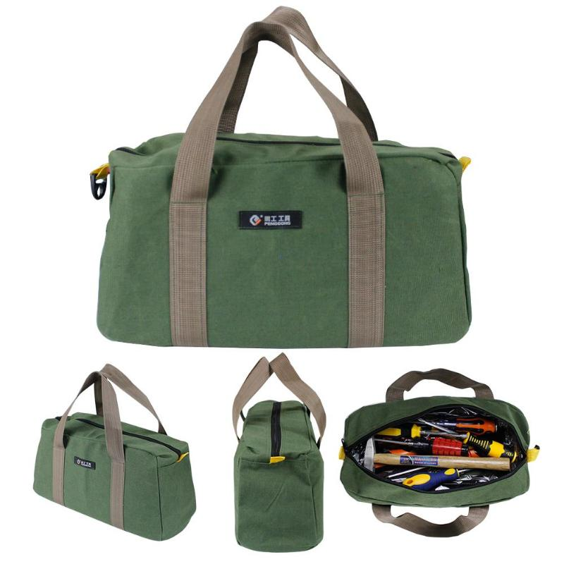 Multi-function Canvas Waterproof Storage Hand Tool Bag Portable Toolkit Wrenches Screwdrivers Plier Metal Hardware Parts Storage