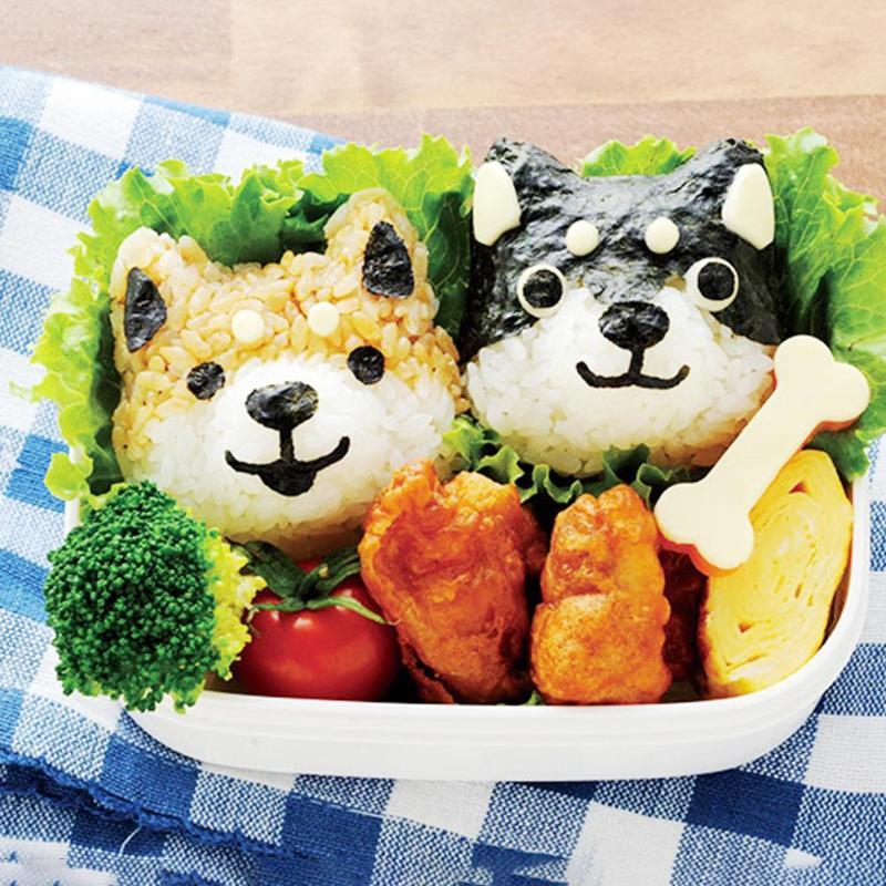 5 шт./компл. милый мультфильм суши нори форма для риса Декор резак форма для приготовления бенто сэндвич DIY инструмент кухонные принадлежности-2