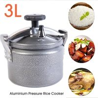 3L Aluminum Explosion Proof Pressure Cooker Pot Rice Cooking Stovetop Outdoor Camping Travel Pot High Elevation Pressure Cooker