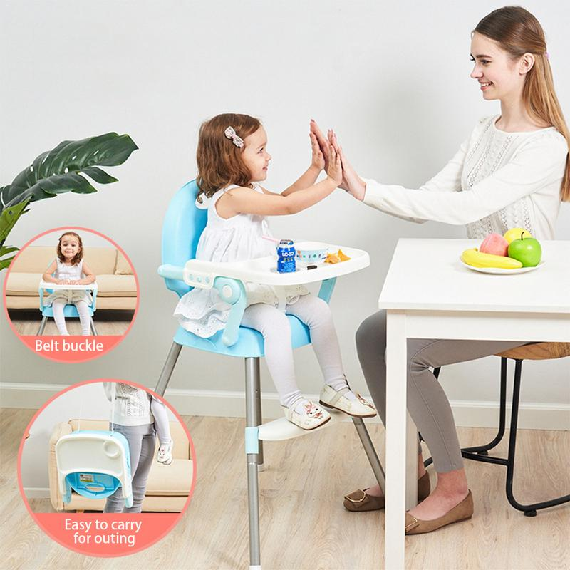 Baby Dining Chair Children's Dinette Baby Learning Chair Portable Folding Chair Multi-functional Dining Chair
