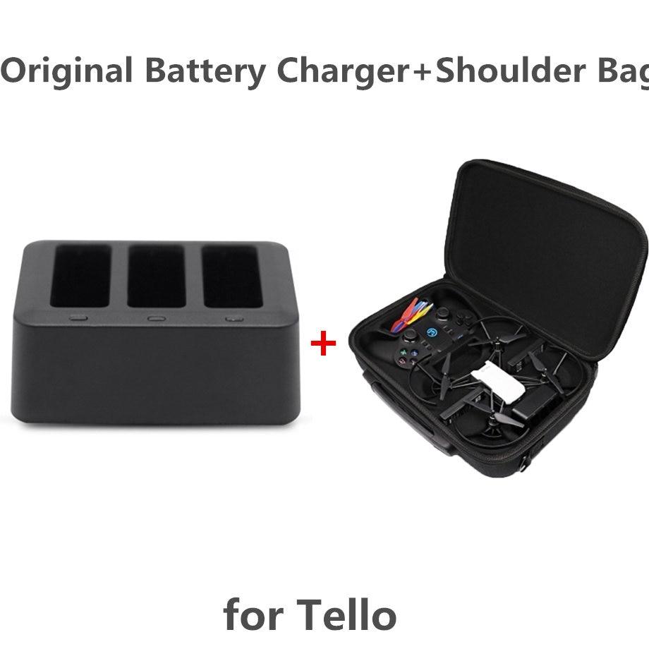 Tello Drone Body&Remote Controller Combo Suitcase+Original FOR DJI Tello Charger 3-in-1 USB Multi Battery Charging Hub For Tello