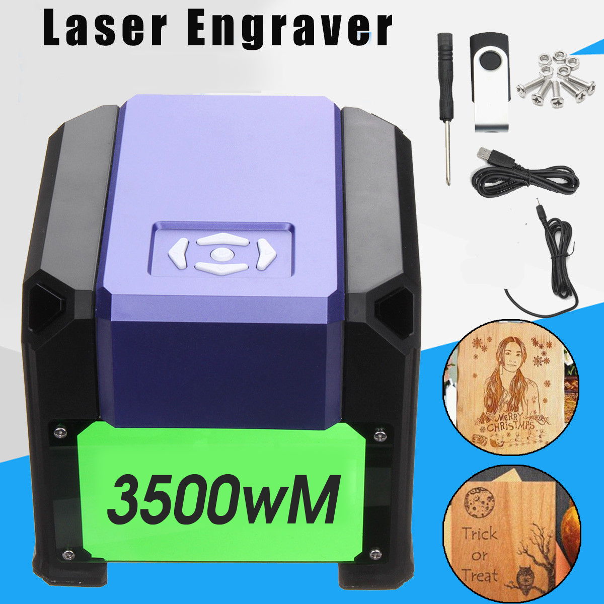 3500mW 80x80mm USB Desktop Mini Laser Engraver Machine Printer DIY Logo Marking Cutter Engraving Range CNC Laser Carving For WIN