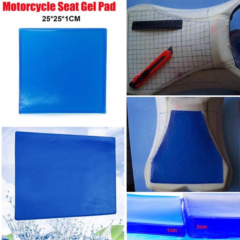 Motorcycle Seat Gel Pad Shock Absorption Mats Comfortable Soft Cushion Blue