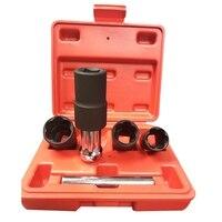 New 5Pcs 1/2 17 19 21 22mm Twist Socket Wrench Head Metric Socket Set 4 Damaged Worn Lug Nut And Lock Remover