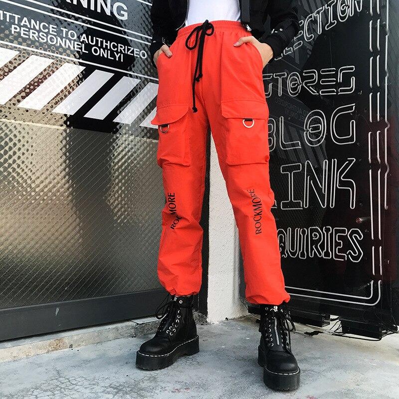 FBE&CDG Female High Waist Harem   Pants   Casual Loose Joggers Trousers Hip Hop   Pant   Streetwear Cargo   Pants   Women   Capris   Trousers