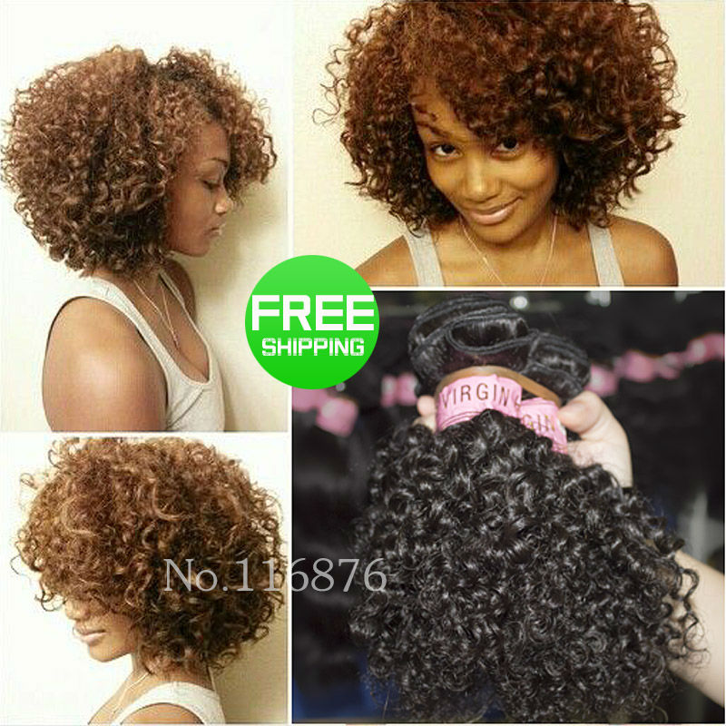 Short kinky curly hair extensions