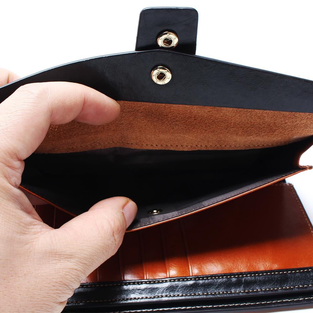 2019 Ny design mode multifunktionell handväska äkta läder plånbok - Plånböcker - Foto 6