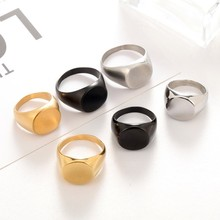 Luxury Titanium Steel Ring For Men Women Punk Brushed/Glossy Black Silver Gold Color Ring Male Finger Jewelry Gift Dropshopping 8mm titanium steel finger ring for men jewelry women couples gift punk gold silver black brushed metal stainless steel men rings