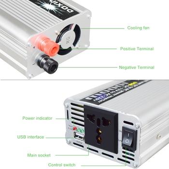 Wechselstrom Zu 12V DC Konverter | Inverter USB 1000 W Watt DC 12 V Zu AC 220 V Tragbare Auto Power Charger Konverter Adapter DC 12 Zu AC 220 Modifizierte Sinus Welle 1000 W
