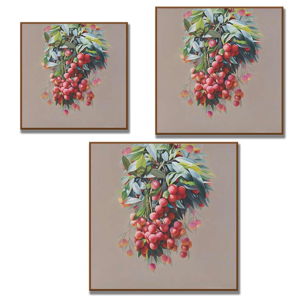 Nenhum quadro clássico uva maçã pinho maçã pintura a óleo ainda vida frutas impressões da lona na lona arte da parede decoração imagem