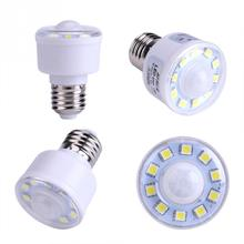 цена на 1.8W 220V Bedroom Energy Saving Light Bulb LED Night Light PIR Infrared Motion Sensor Night Light Bulb 10 LED Lamp  Cool White