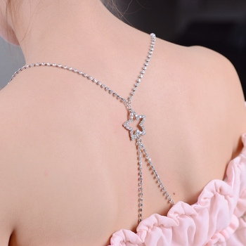 Fabricantes de correas de metal de diamantes de imitación ropa interior correas de sujetador con estrella trasera
