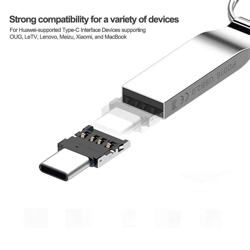Type-C USB-C USB 2,0 OTG адаптер для Xiaomi Mi A1 для samsung Galaxy S8 Plus Oneplus 5T Macbook Pro type C OTG конвертер