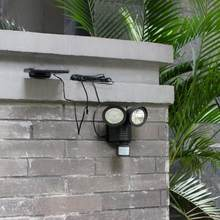 22LED /25LED/120LED Solar Powered PIR Motion Motion Sensor Rotable Two Heads Waterproof Lights Lamp For Outdoor Indoor(China)