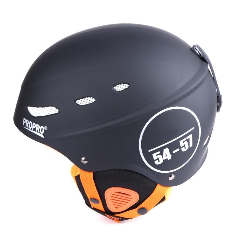Skiing & Snowboarding Propro Black Ski Helmet Ultralight Integrally-molded Adult Warm Helmet Men Women Snowboard New
