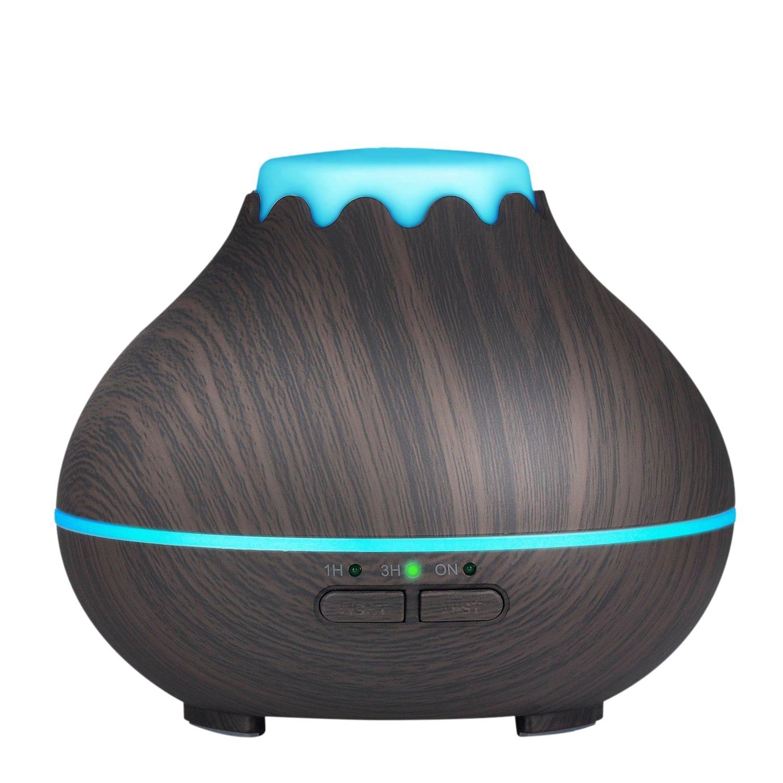 Eas-mini difusor do óleo essencial do aroma, umidificador fresco ultrassônico da névoa de 150 ml com as luzes conduzidas da cor que mudam e o automóvel waterless