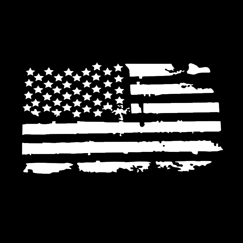 Universal Distressed USA Flag Hood Car Truck Window Sticker For Jeep Wrangler