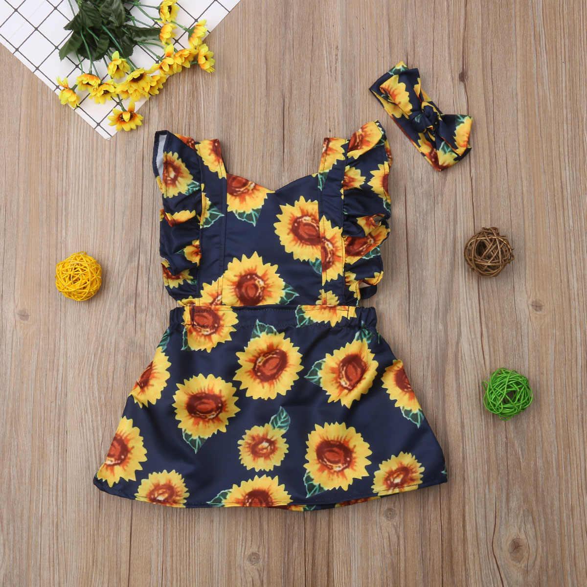 b376edf60 ... Lovely Infant Toddler Kid Baby Girl Ruffles Sleeveless Backless  Sunflower Red Plaid A-line Princess ...
