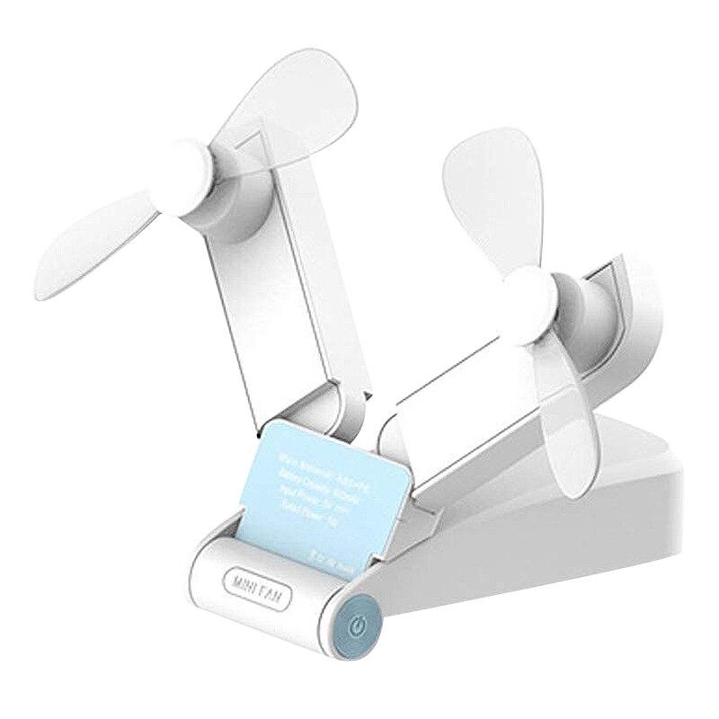 Mini ventilateur portatif Rechargeable de voyage personnel ventilateur de poche à piles léger petit ventilateur à double tête Usb Mi