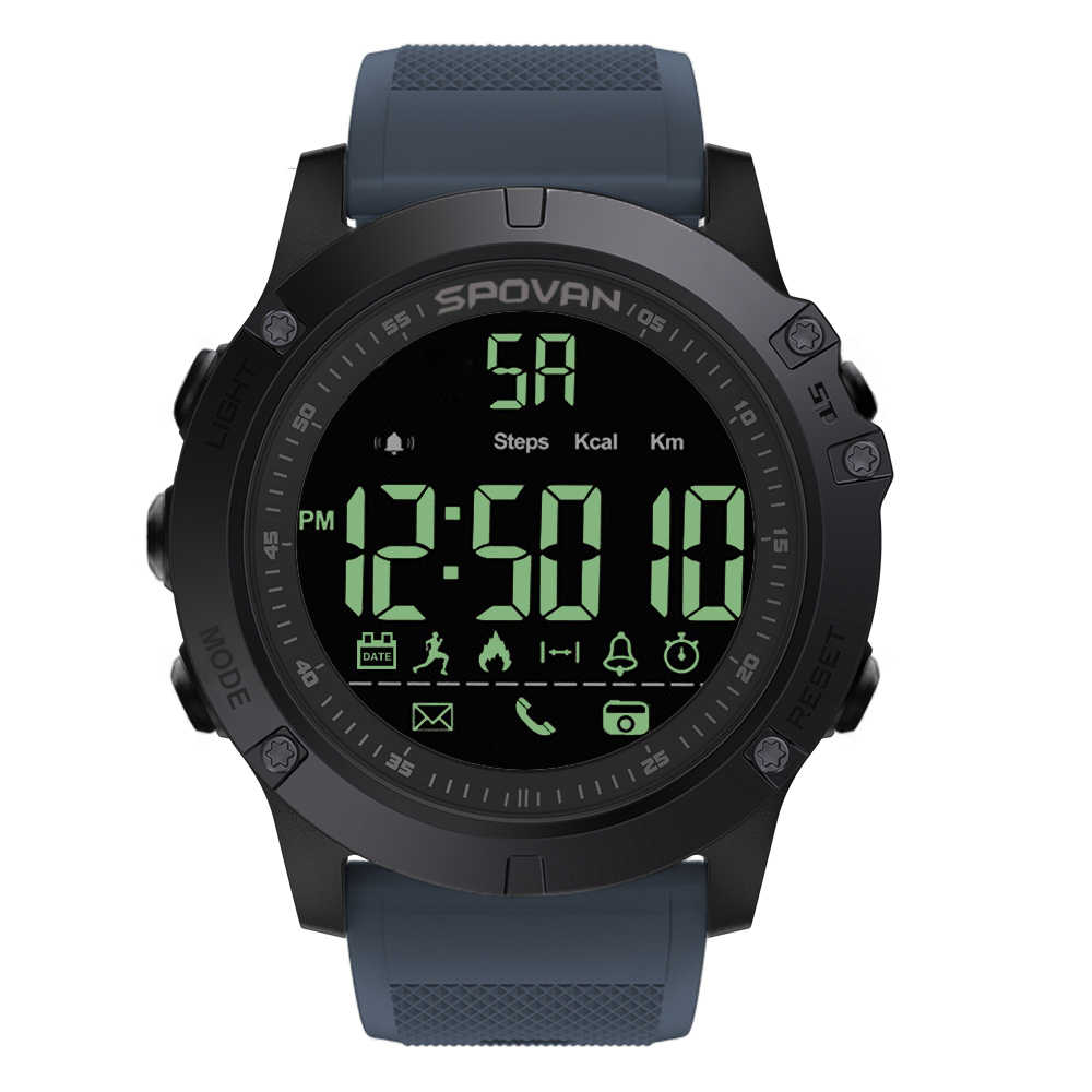 Outdoor Digital Smart Sport Watch for Men with Pedometer Wrist Watch for iOS and Android 50M Waterproof