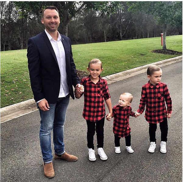 2018 NEW Cool Kids Boys Girls Red Plaid Check Shirt Cotton Long Sleeve Button Down Tops Lucky Child Tops shirt