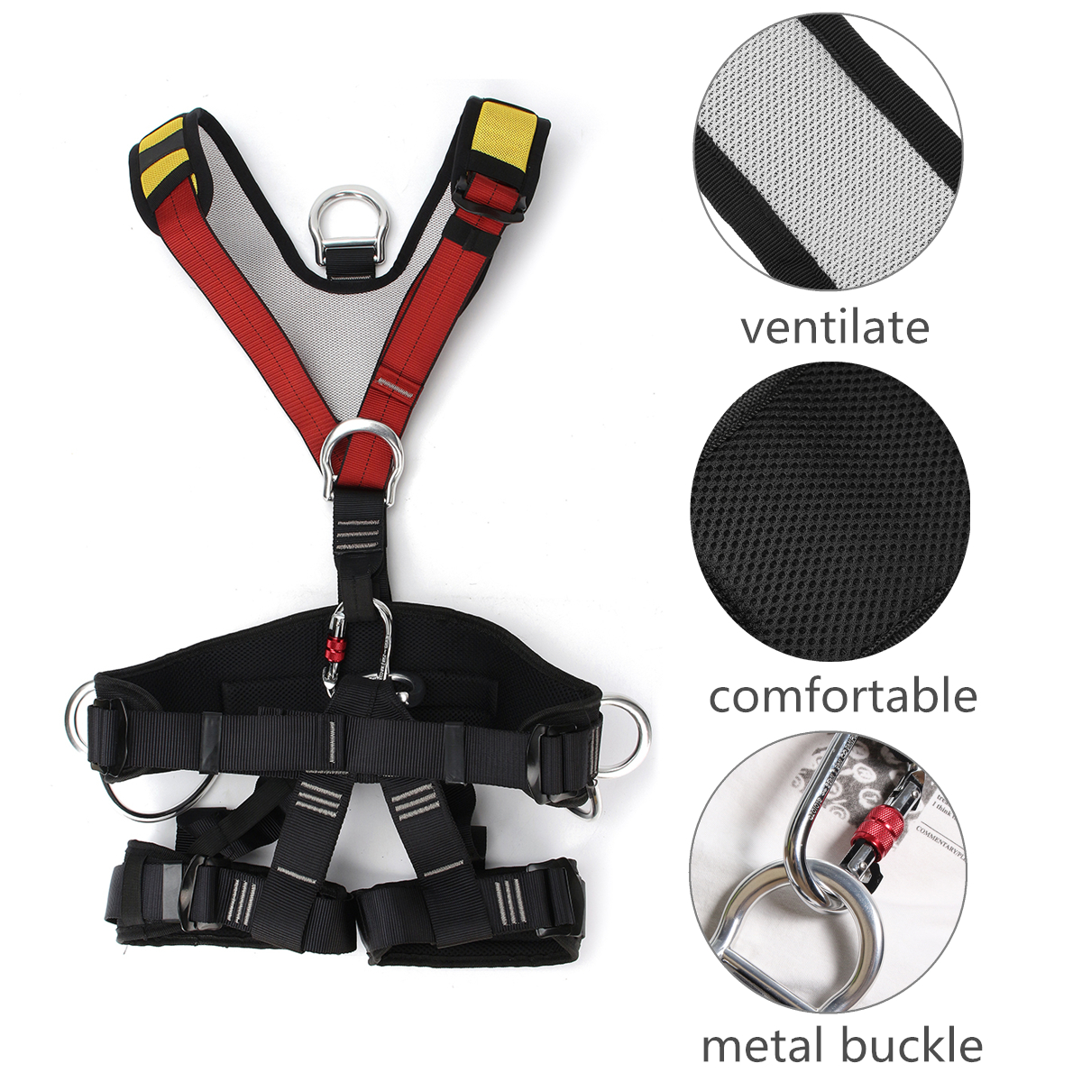 Quality Professional Harnesses Rock Climbing High altitude protection Full Body Safety Belt Anti Fall Protective Gear professional rock climbing harnesses full body safety belt anti fall removable gear altitude protection equipment