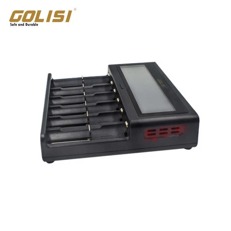 Golisi S6 2A 1A 0.5A ذكي Lcd شاحن ل 18650 26650 20700 21700 ليثيوم أيون Ni-mh Ni-Cd Aaaa Sc C بطارية قابلة للشحن