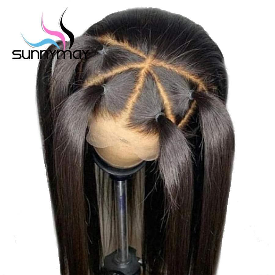 Sunnymay 13x4 Lace Front Human Hair Wigs For Black Women Pre Plucked Brazilian Remy Glueless Straight