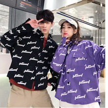Mens Shirts 2019 Spring New Youth Popular Couple Loose Embroidered Shirt Long Jacket Casual Clothing