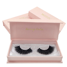 SHIDISHANGPIN 1 Pair natural long false lashes 3d mink eyelashes hand made individual volume eyelash extension