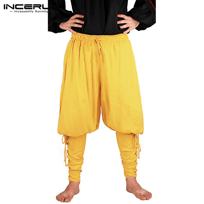 5545109eeed0 Medieval hombre vikingos pantalones pirata disfraces Caballero ...