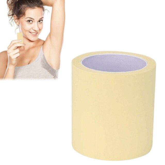 Unisexe femmes hommes 1 rouleau aisselles sous les bras prévenir les coussinets de sueur Transparent jetable autocollant Anti-transpirant autocollant Anti-transpiration