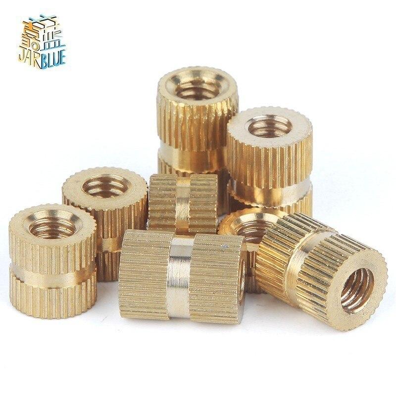 100pcs/50pcs/20pcs M1.4 M2 M2.5 M3 M4 M5 M6 M8 Braas Insert Nut Injection Molding Brass Knurled Thread Inserts Nuts