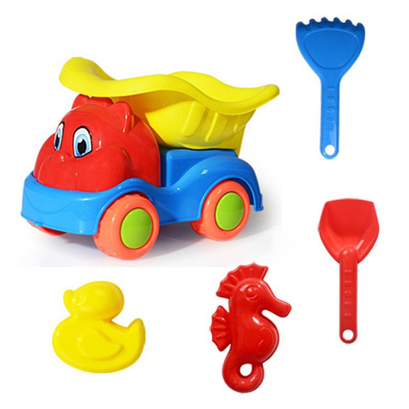 Toys & Hobbies Efficient Childrens Beach Toy Car Set Plastic Non-toxic Sand Snow Play Toy Model Suit For Babies Kids Boys Girls