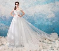The new listing Fashion flower Wedding Dress long gown Grand Yarn Princess long Veil elegance and beautiful Wedding white Dress
