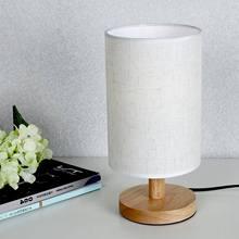 European Style Modern Minimalist Wood Table Lamp USB Plug Bedroom Bedside Lamp Indoor Living Room Bedroom Night Light Sma недорого