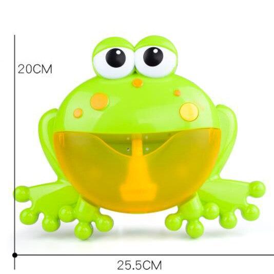 Baby Bath Bubble Machine  Bathroom Accessories Sets Big Frogs Automatic Bubble Maker Blower Music Maker Bathtub Soap Machine 5