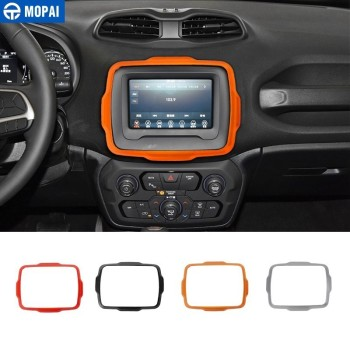 MOPAI Car Stickers for Jeep Renegade 2018+ Car GPS Navigation Decoration Cover for Jeep Renegade Car Accessories Styling mopai lamp hoods for jeep renegade 2019 car front fog light lamp decoration cover for jeep renegade 2019 accessories