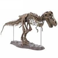 Grande dinossauro fóssil crânio animal modelo brinquedos tyrannosaurus rex montar o esqueleto modelo artigos de decoração|Estatuetas e miniaturas| |  -