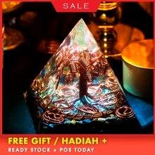 AURA REIKI Orgonite Tree Of Life Pyramid Energy Magnetic Field Converter Eliminate Negative Aura Crystal Decoration