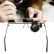 Professional 20X Magnifying Glass Headband LED Light Jewelry