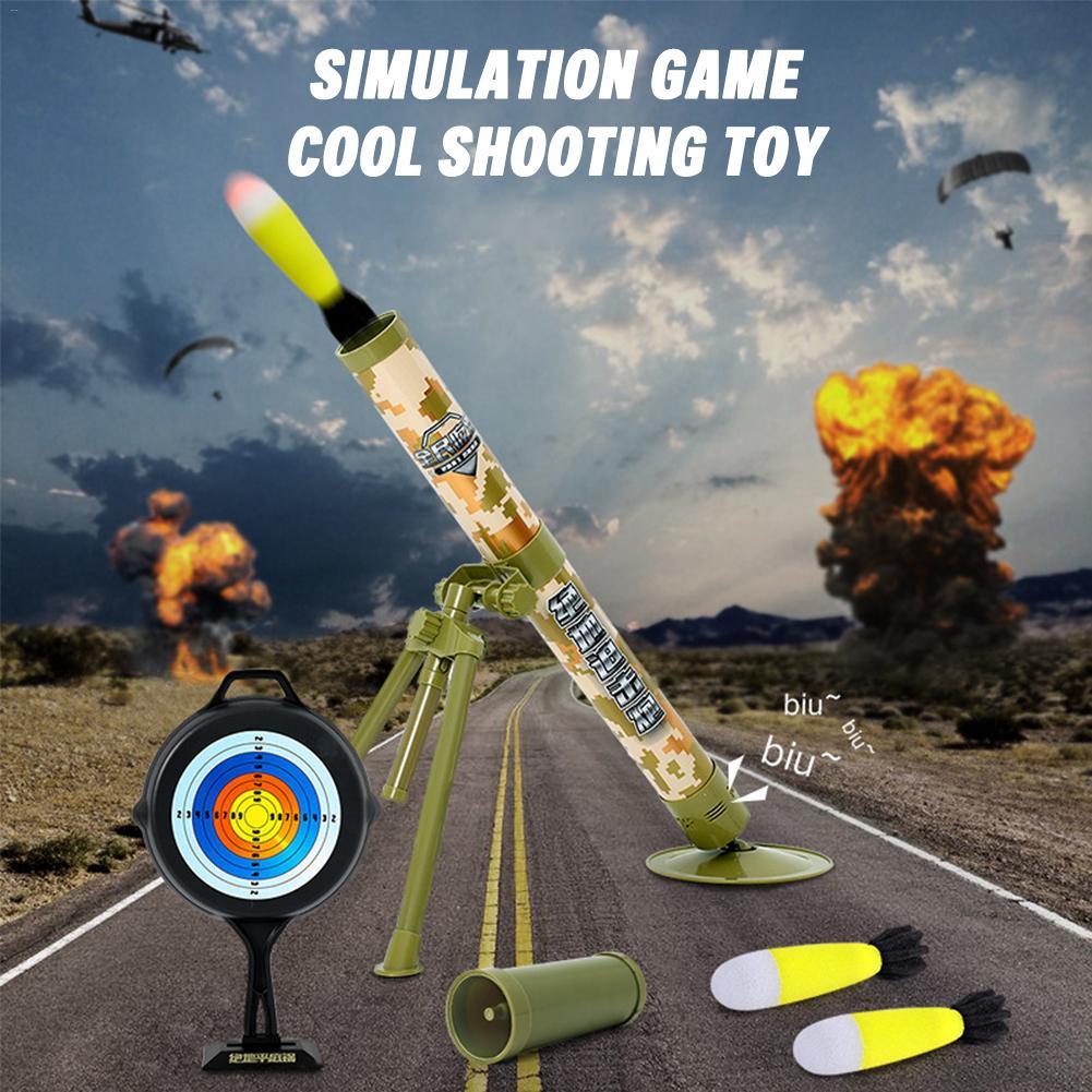 Garçon tir jouets Simulation Cool modèle enfants jouet enfants en plein air amusant interactif jouet canon électrique lancement mortier - 3