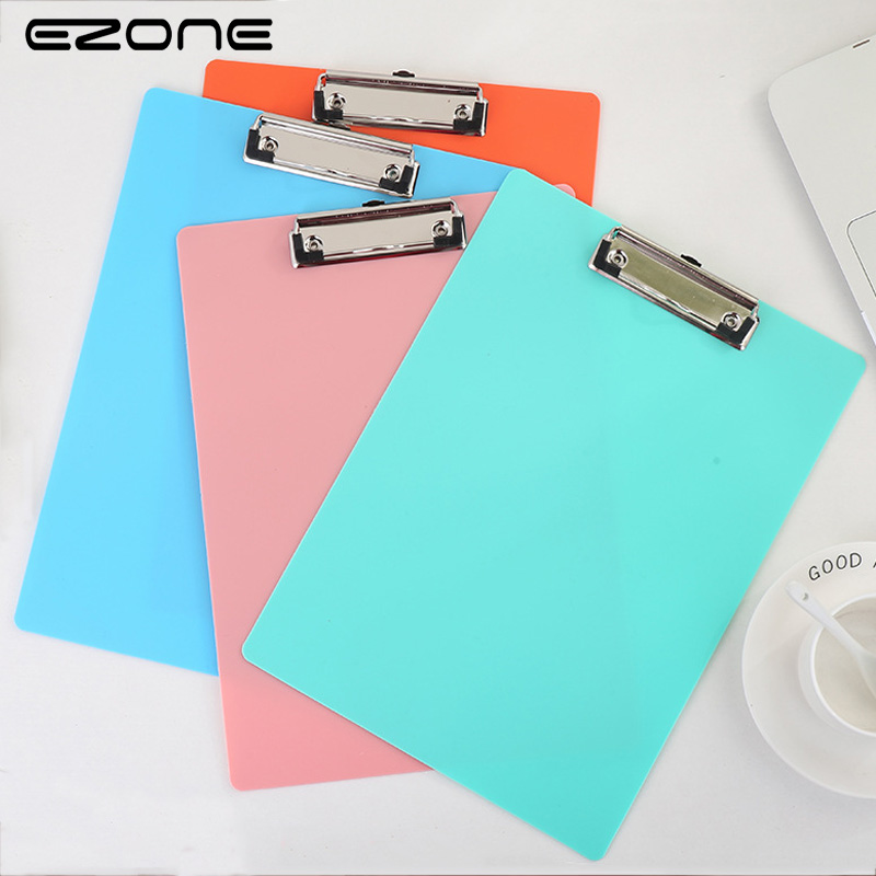 EZONE Candy Color A4 File Folder PP Fresh Style Writing Board Clip File Kid Gift School Office Paper File Business Office Supply